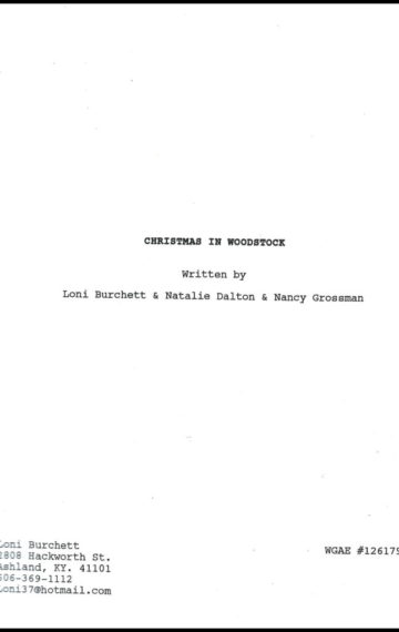 Christmas in Woodstock (Screenplay)